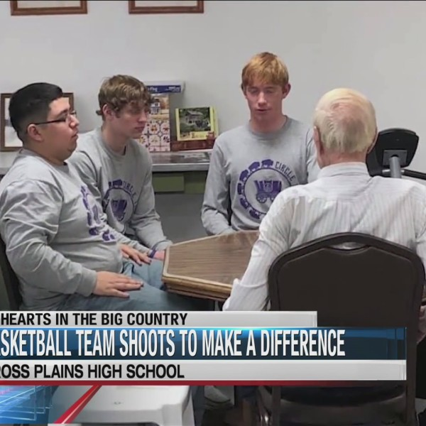 BIG HEARTS: Cross Plains basketball team takes shot to help senior citizens