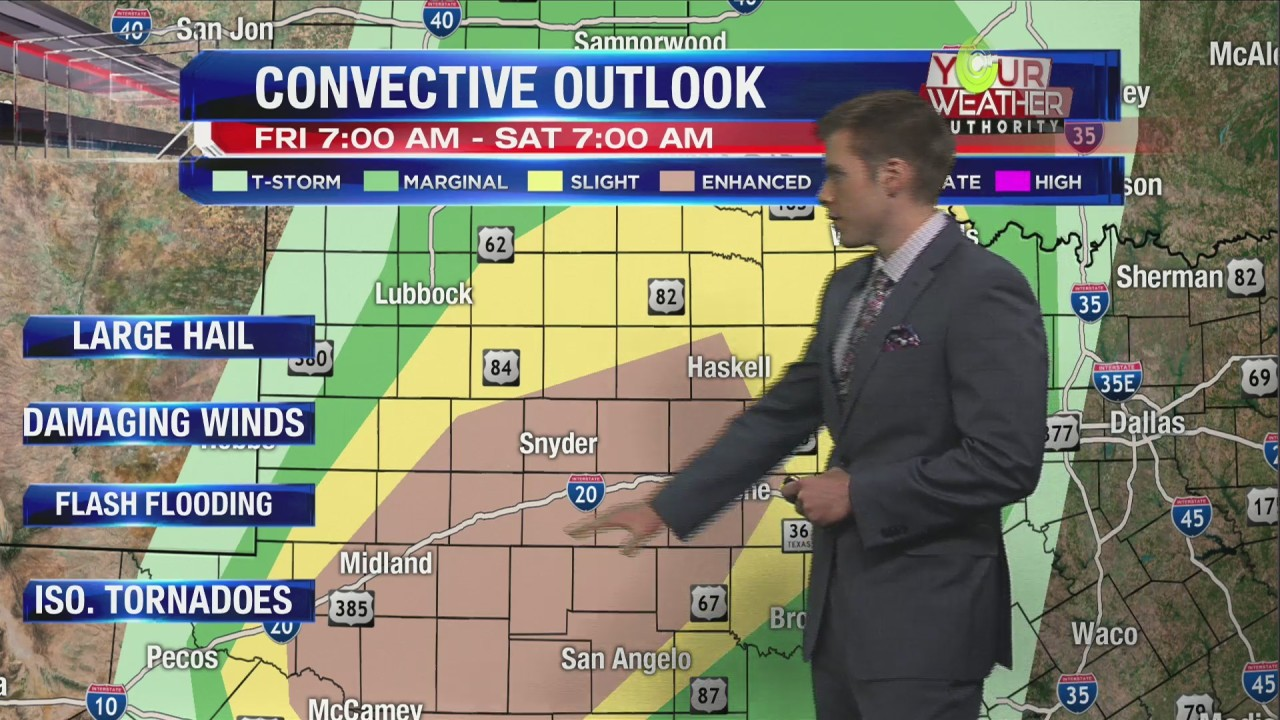 Friday, May 17, 2019: *WEATHER ALERT DAY* Severe storms