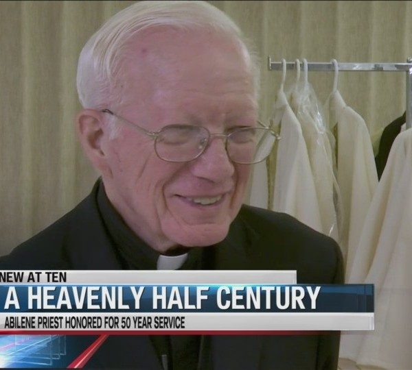 Heavenly half-century: Abilene priest honored for 50 years of service