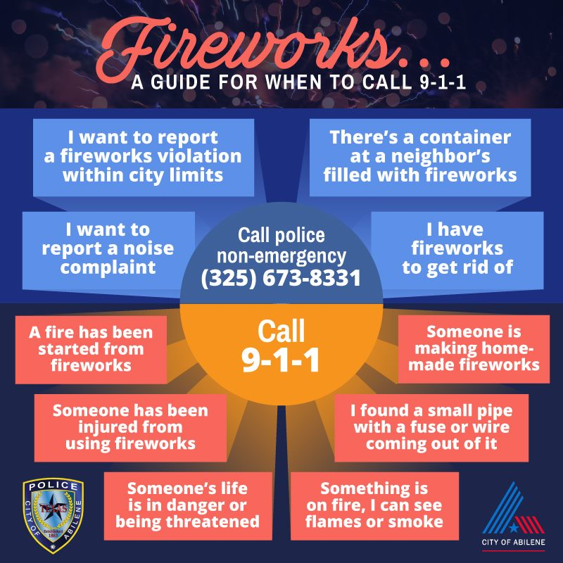 When to call 911 for fireworks | KTAB - BigCountryHomepage com