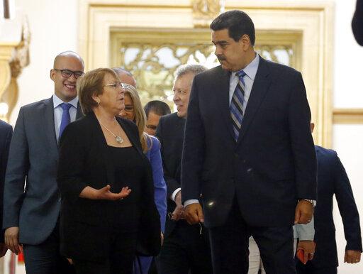 Michelle Bachelet, Nicolas Maduro