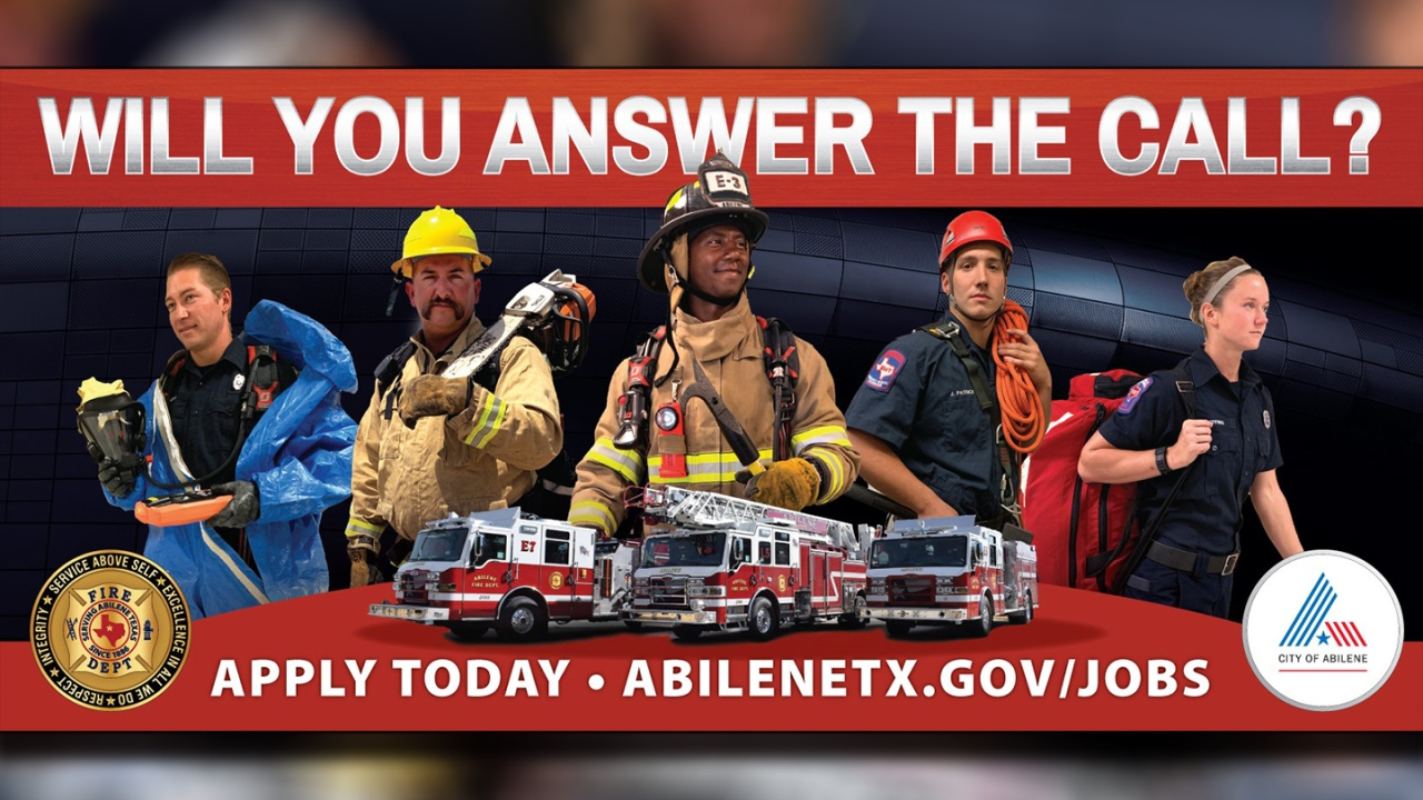 No Experience Needed To Apply At Abilene Fire Department