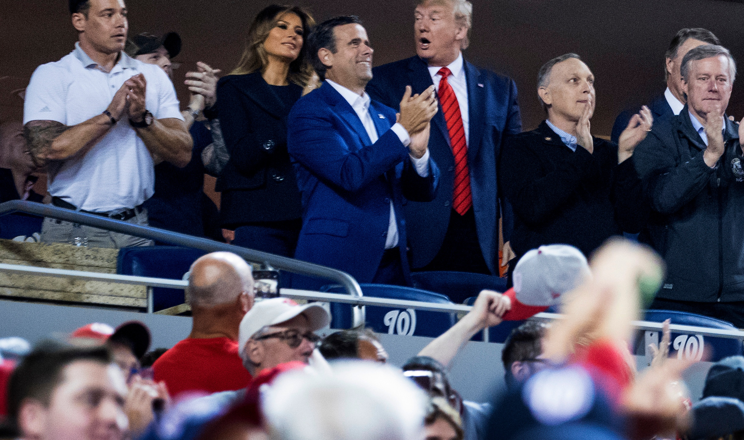 Donald Trump, Melania Trump, John Ratcliffe, Mark Meadows