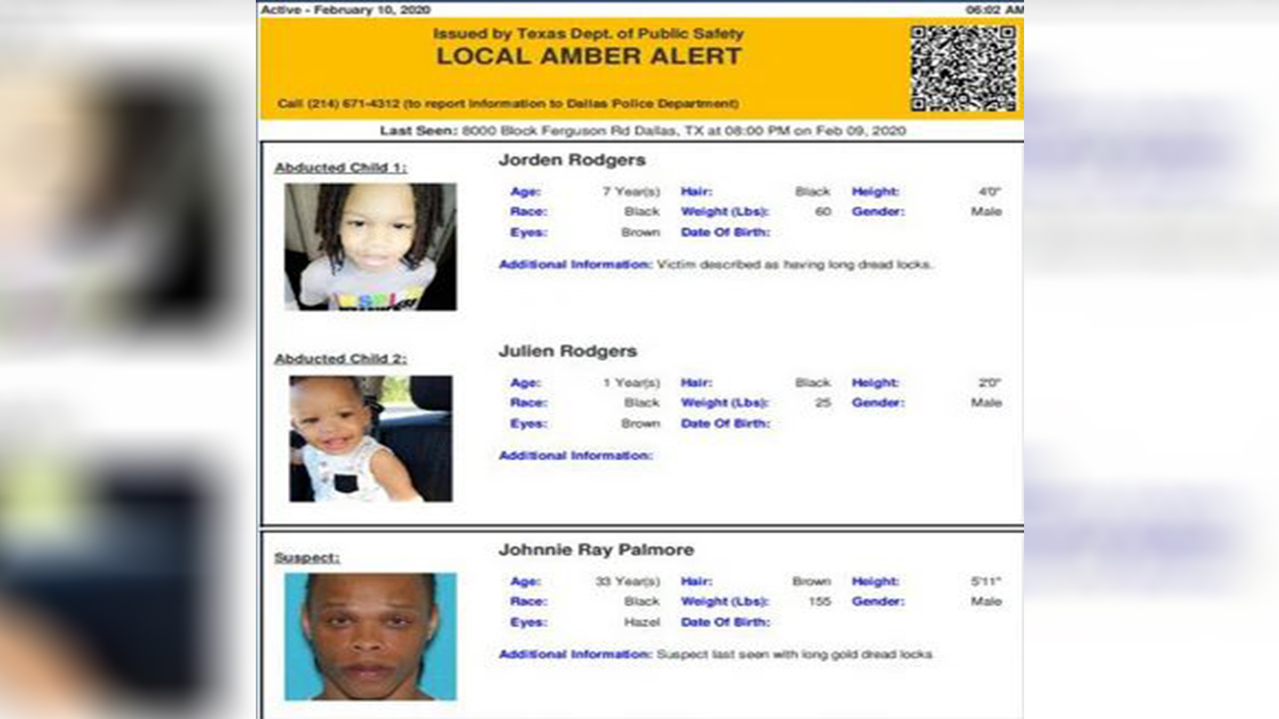 Amber Alert Dallas Pd Searching For Abducted Children Suspect