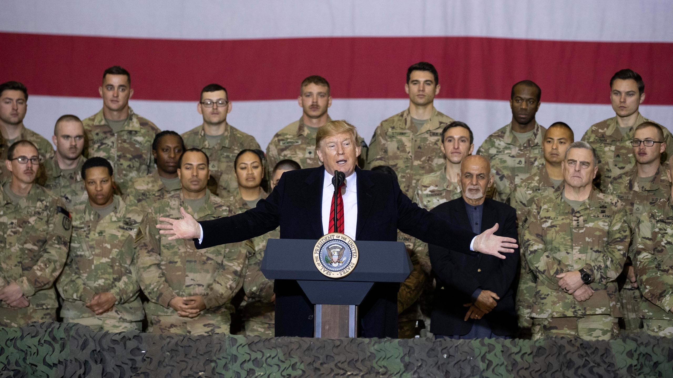 Donald Trump, Mark Milley, Ashraf Ghani