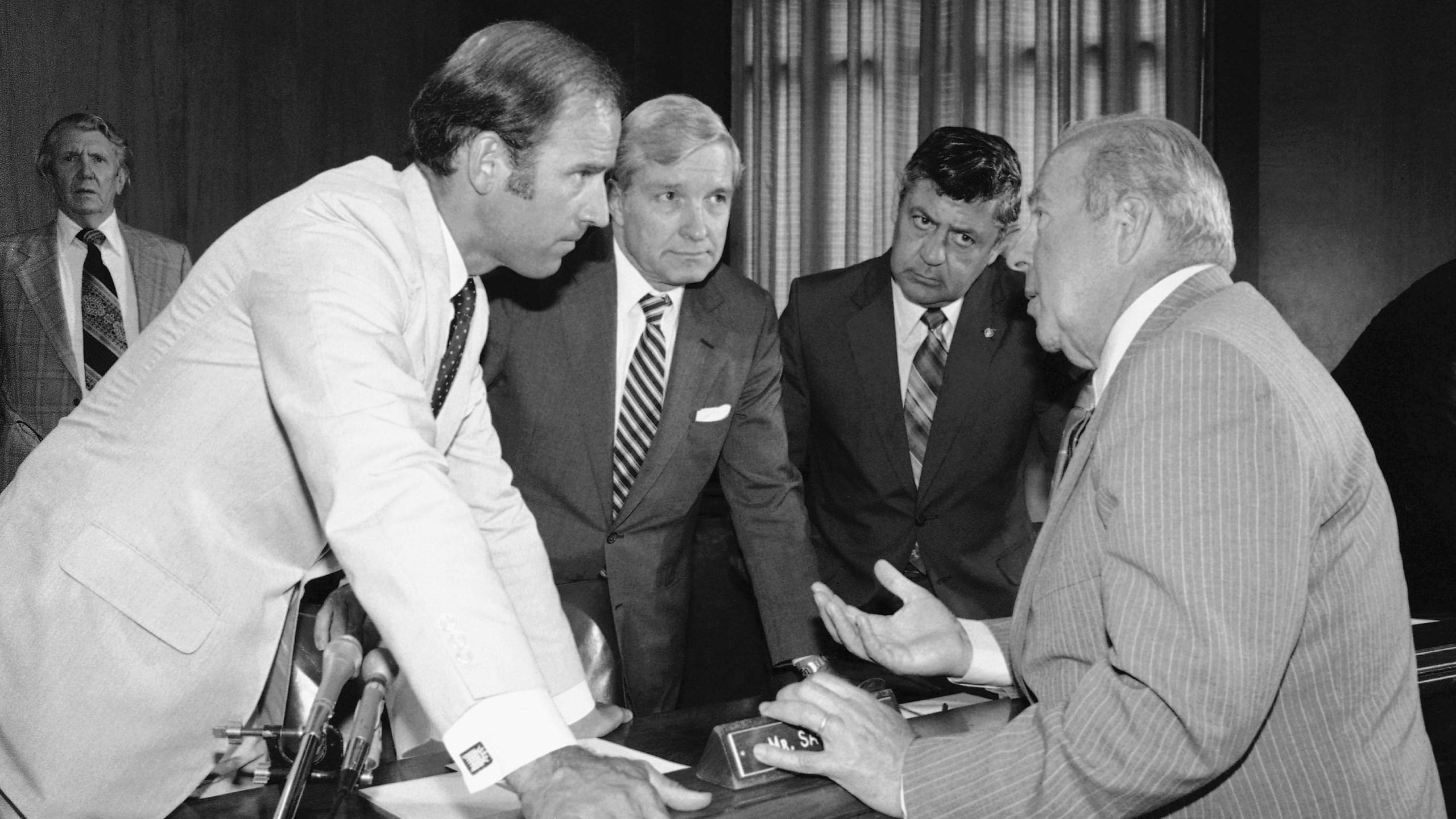 Joseph Biden, George Shultz, Charles Percy III, Edward Zirinsky