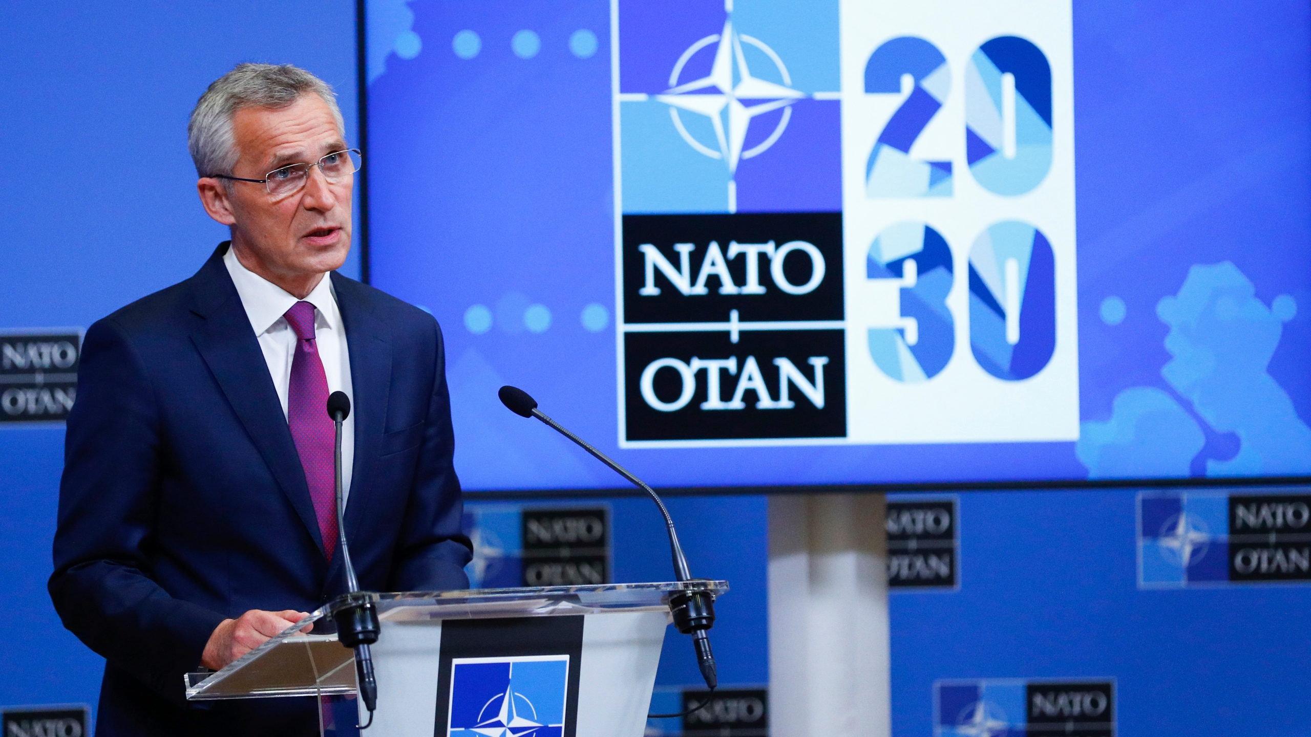 NATO Foreign Ministers hold an online North Atlantic Council meeting, in Brussels